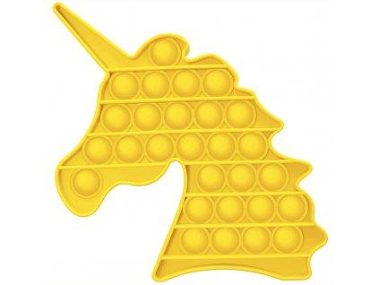 Antistresová hračka POP IT jednorožec žlutý