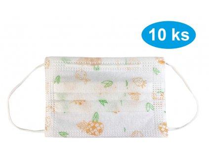 Rouška jednorázová 10 ks ovoce dětská (9)
