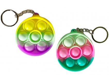 Antistresová klíčenka POP IT kruh barevný (334)