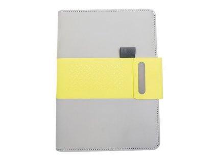 Notes linkovaný s kapsou A5 - elegant - limetková (8605)