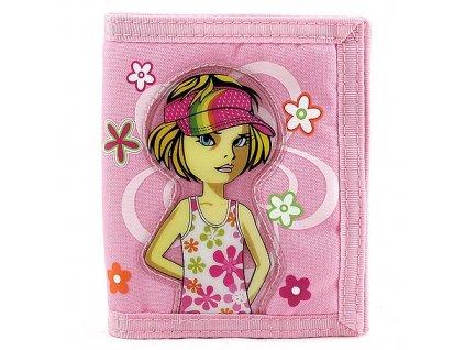 Cool peněženka (7913) holka a květiny