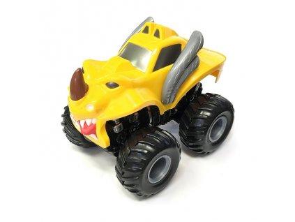 Monster 4x4 SUV auto na setrvačník I.série 13cm žluté (B)