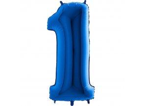 Balónek fóliový narozeniny číslo 1 modrý 82cm