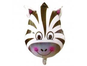 Nafukovací balónek hlava zebry 45 cm