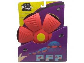 Flat Ball Disc se světlem - Červený