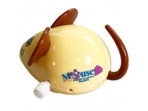 Myš natahovací plast oranžová