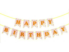 Papírová girlanda Happy Birthday 4 metry