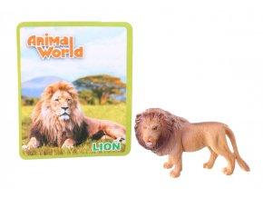 Figurka zvířátka ZOO lev 7 cm (1161)