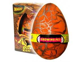 Dinosauří vejce JUMBO líhnoucí se oranžové (3609)