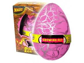 Dinosauří vejce JUMBO líhnoucí se růžové (3609)