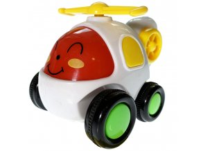 Q-City Vrtulník na setrvačník 8cm bílá