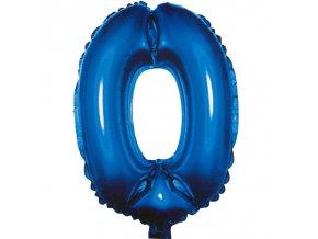 Balónek fóliový narozeniny číslo 0 modrý 82cm