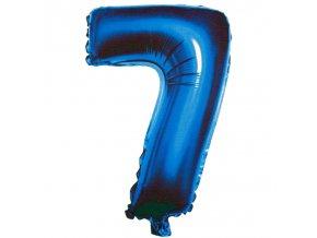 Balónek fóliový narozeniny číslo 7 modrý 82cm