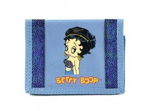 Betty Boop peněženka (0024b) modrá s kamínky