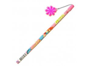 Winx Club Tužka s přívěskem na řetízku světle růžová