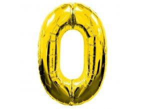 Balónek fóliový narozeniny číslo 0 zlatý 82cm