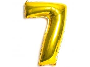 Balónek fóliový narozeniny číslo 7 zlatý 82cm