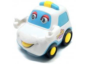 Q-Machines veselé auto s rukama (4262) bílé