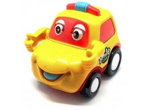Q-Machines veselé auto s rukama (4262) žluté