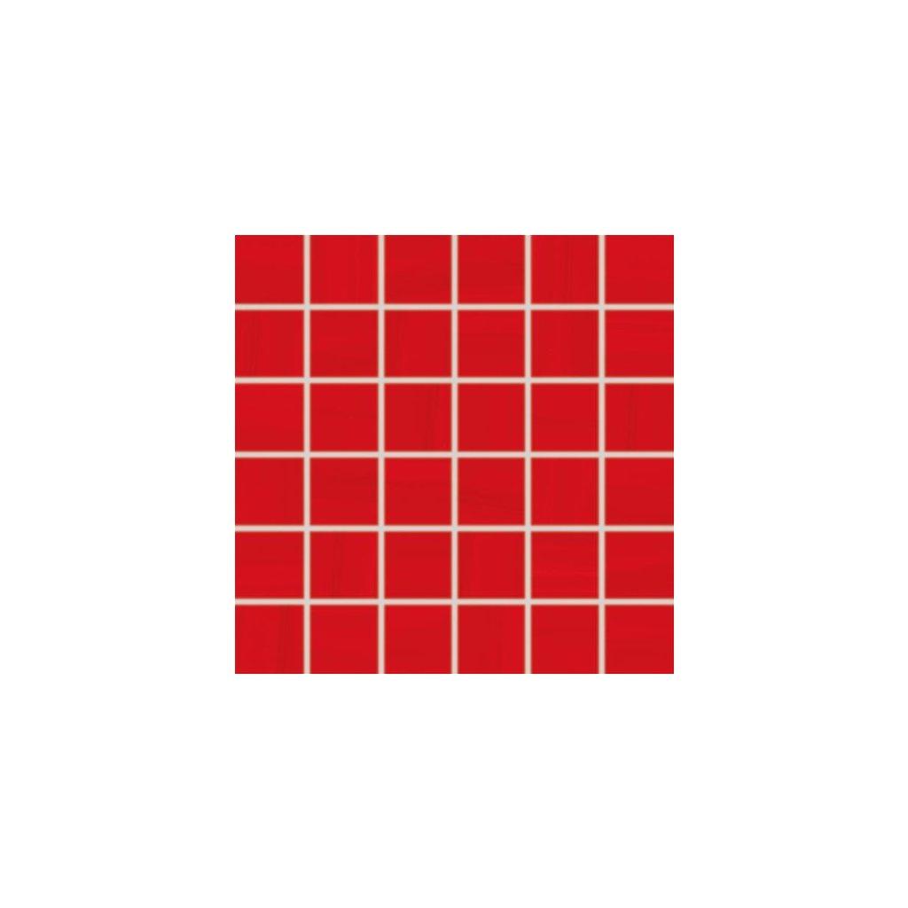 Mozaika Rako Air červená 30x30 cm lesk WDM06041