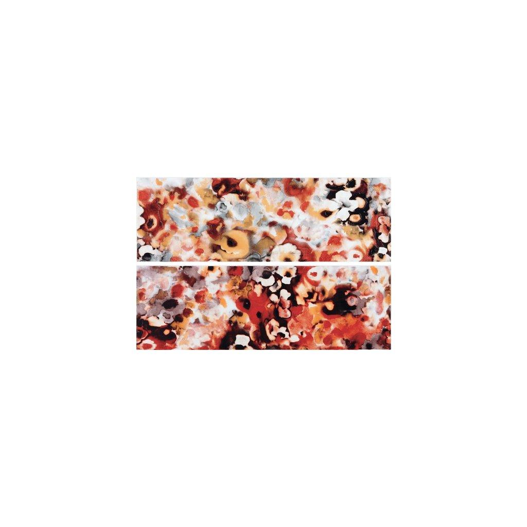 Dekor Rako Air červenooranžová 20x60 cm lesk WITVE004