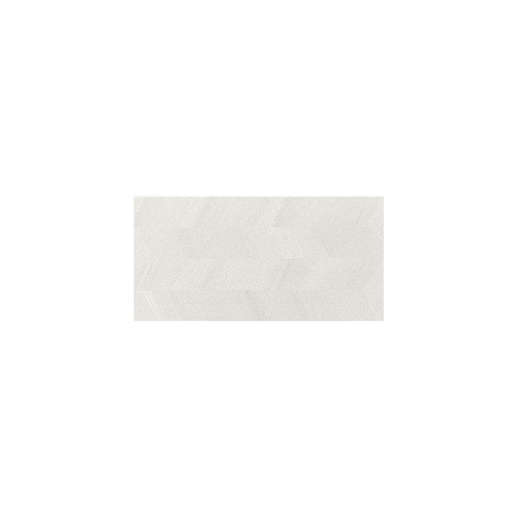 Obklad Rako Casa bílá 30x60 cm dekor reliéfní mat WAKV4532