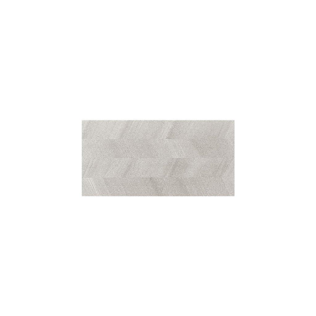 Obklad Rako Casa šedá 30x60 cm dekor reliéfní mat WAKV4533