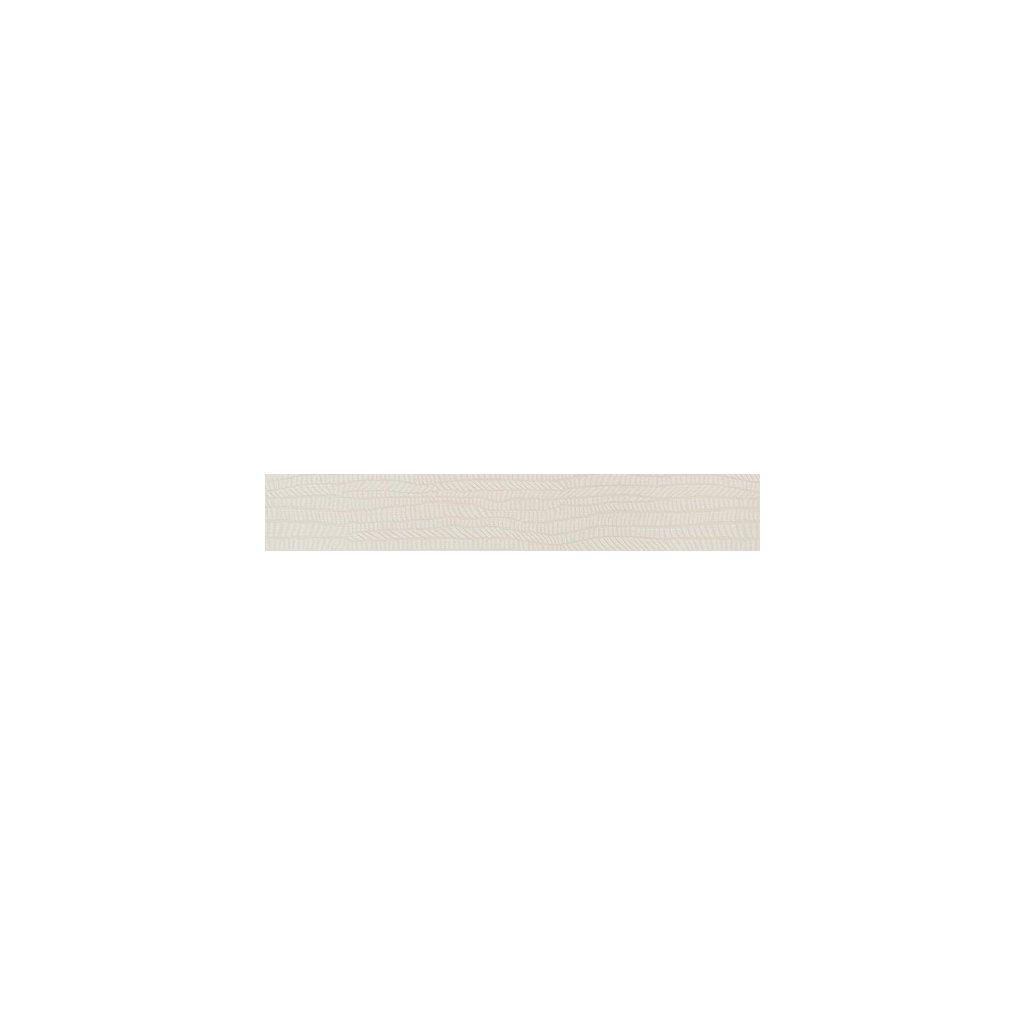 Dekor Rako Defile bílá 9x60 cm mat DDRST360