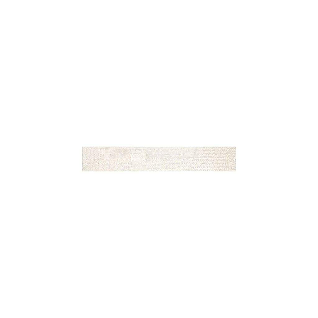 Listela Rako Extra bílobéžová 9,5x60 cm mat WLAS4719