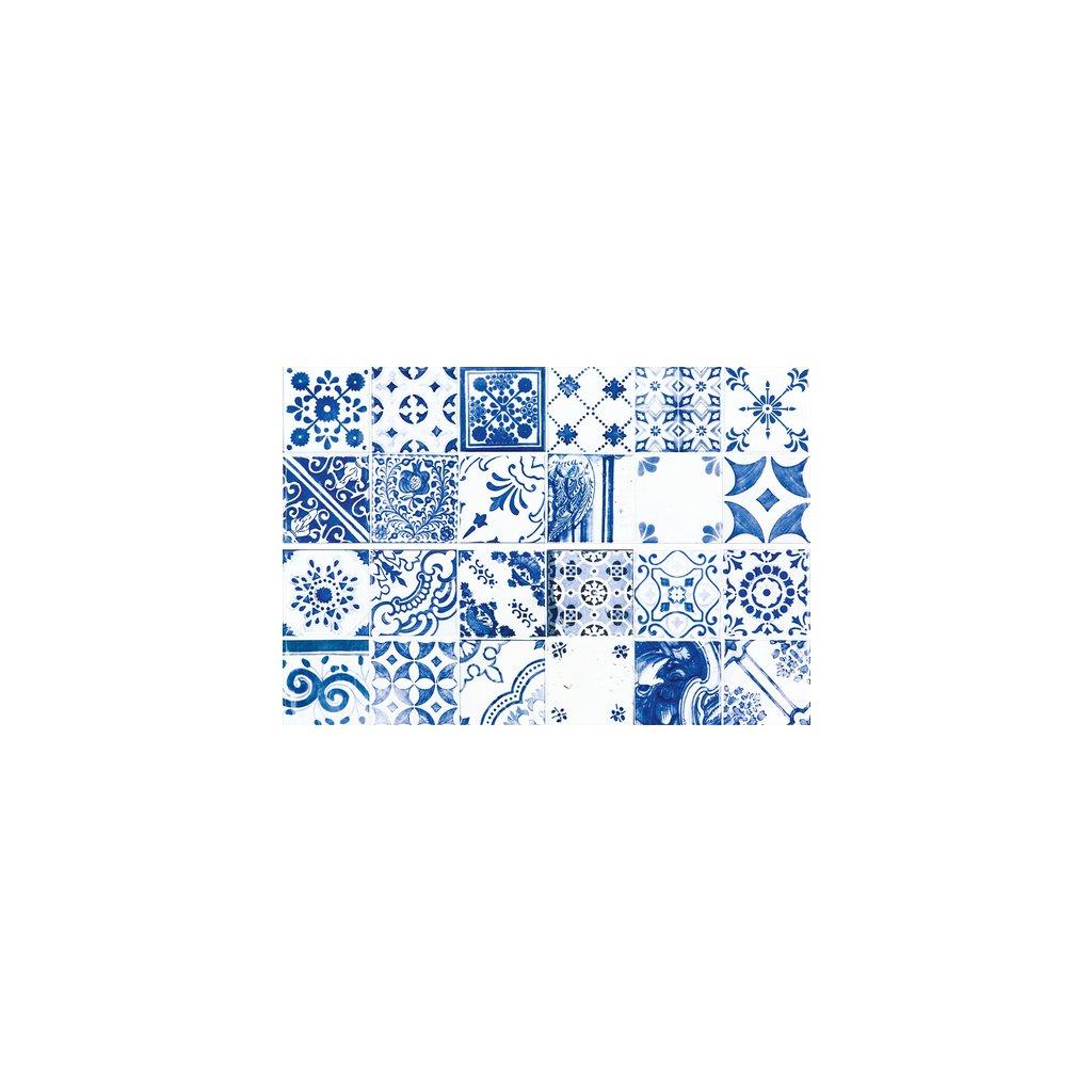 Obklad Rako Majolika modrá 20x60 cm lesk WARVE146