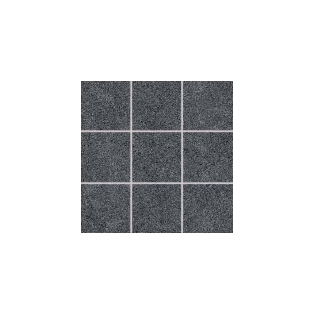 Dlažba Rako Rock černá 10x10 cm mat DAK12635