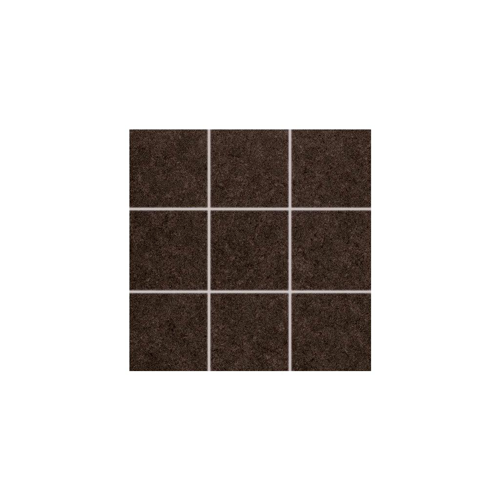 Dlažba Rako Rock hnědá 10x10 cm mat DAK12637