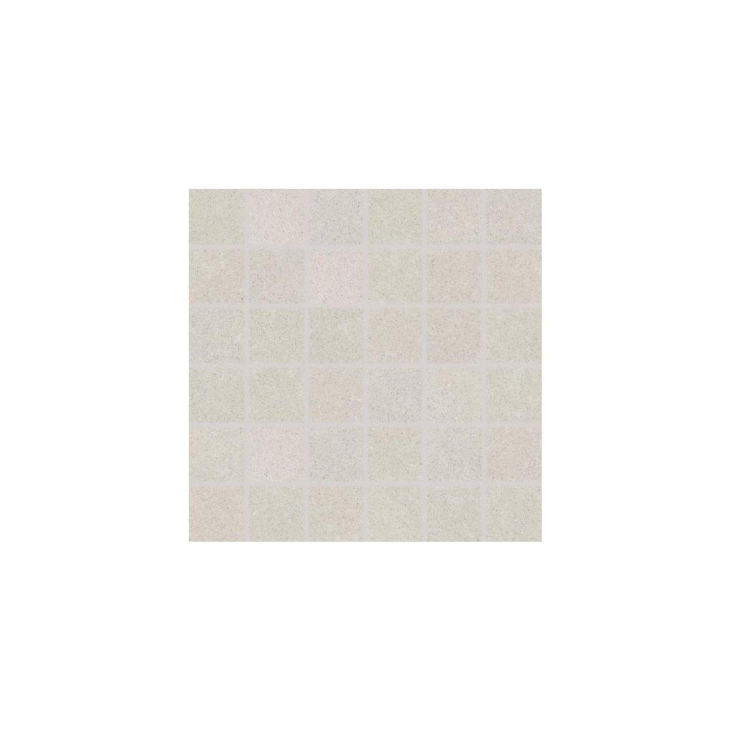 Mozaika Rako Rock bílá 30x30 cm mat DDM06632