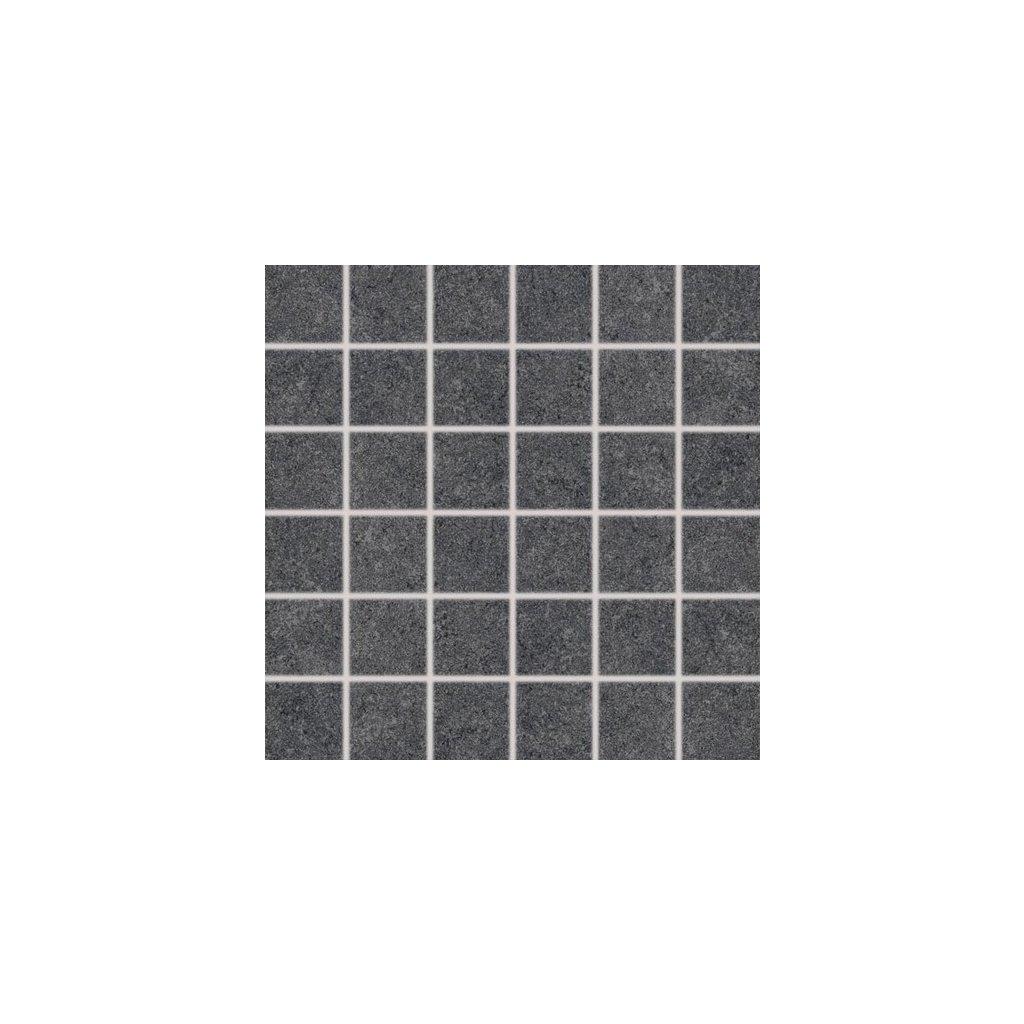 Mozaika Rako Rock černá 30x30 cm mat Dgoo