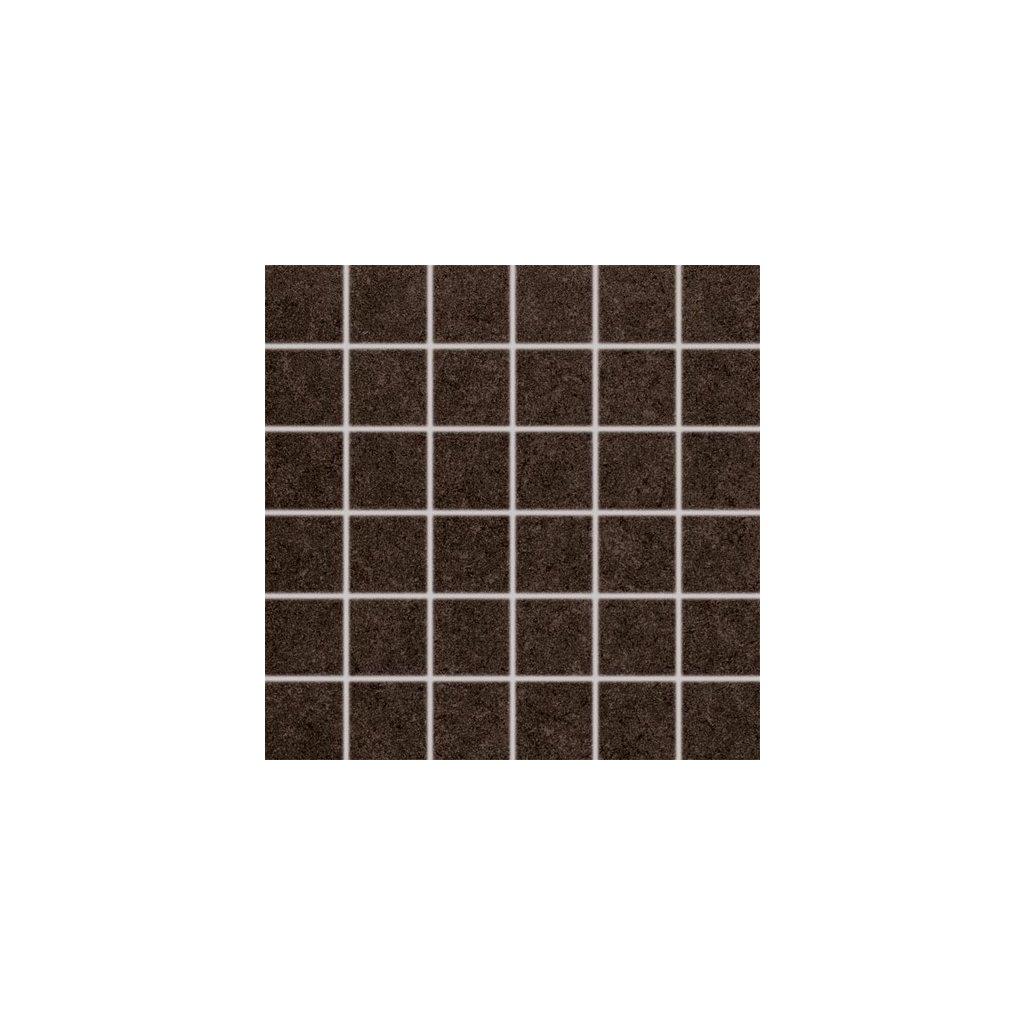Mozaika Rako Rock hnědá 30x30 cm mat DDM06637
