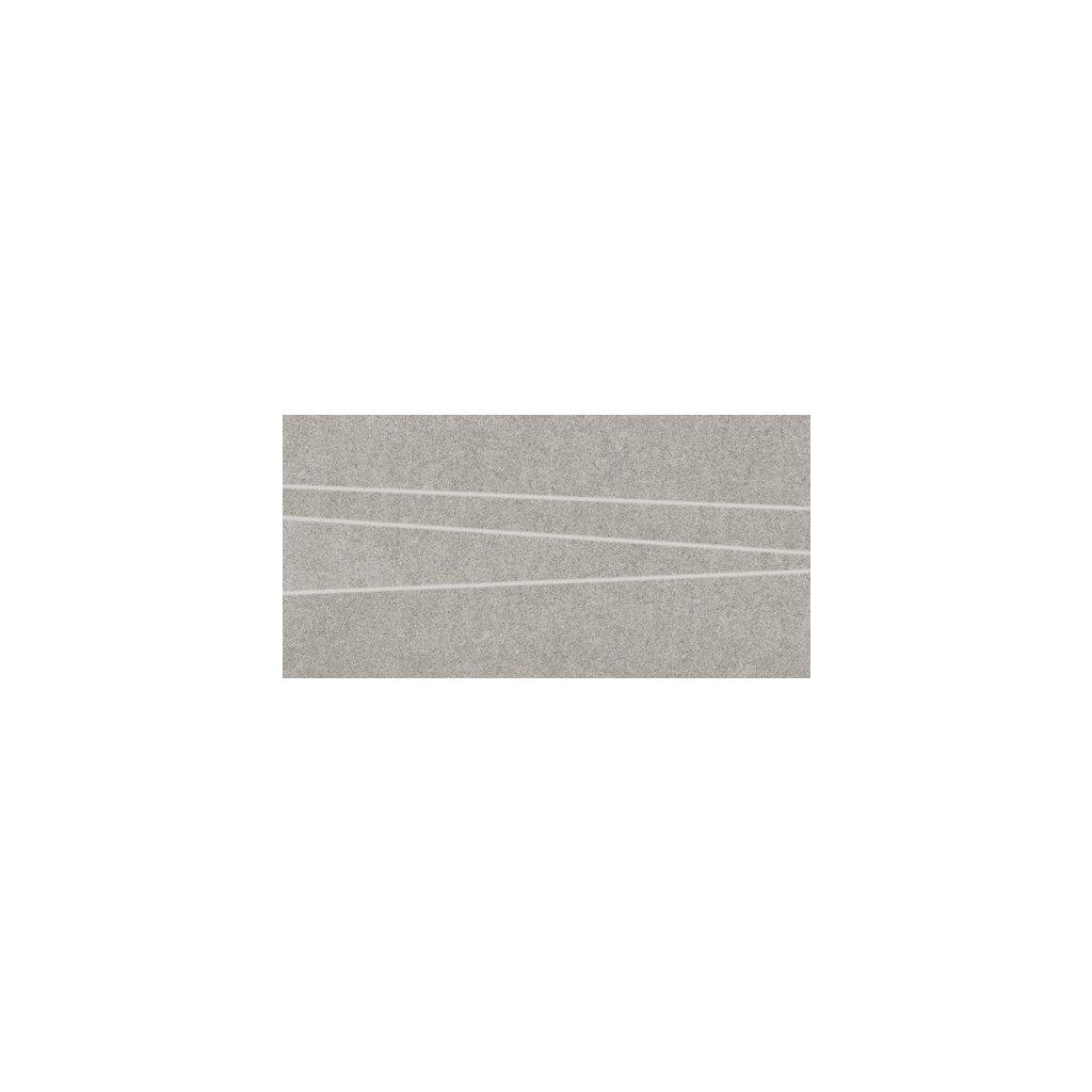 Dekor Rako Rock světle šedá 30 x 60 cm mat DDVSE634