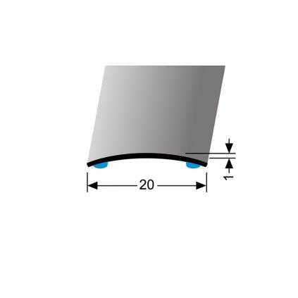 Nerezový profil 20 mm, oblý   Küberit 471 SK