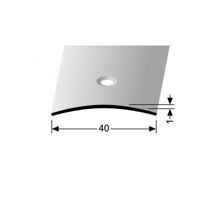 Nerezový profil 40 mm, oblý | Küberit 454 a 454 U