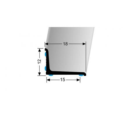 Stěnová ukončovací lišta 18 x 12 mm, hladká (samolepící 2x lepidlo) | Küberit 369 N/SK