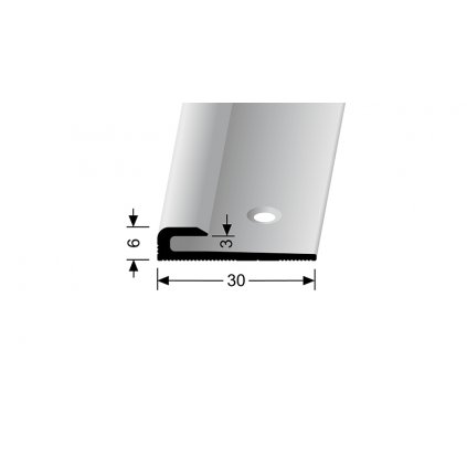 Ukončovací profil do 3 mm, hladký | Küberit 801