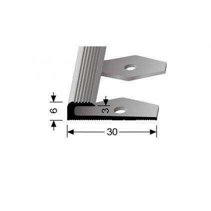 Ukončovací profil pro 3 mm, drážkovaný | Küberit 804 EB