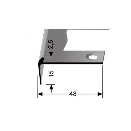 Schodový profil pro 2,5 mm | Küberit 859 EB