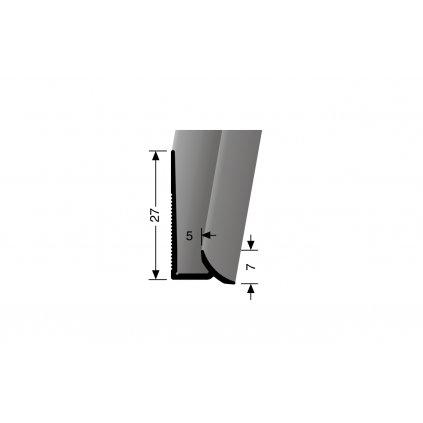 Soklový dolní hliníkový profil - pro krytiny do 5 mm | Küberit 927
