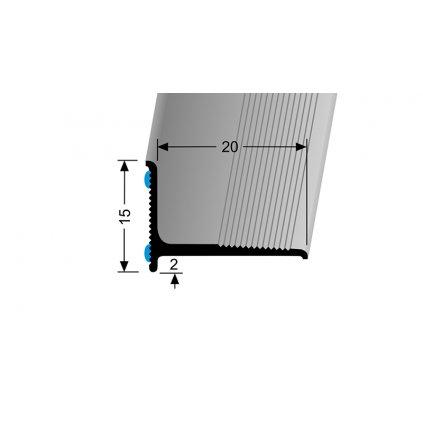 Stěnová ukončovací lišta 20 x 15 mm | Küberit 369/SK