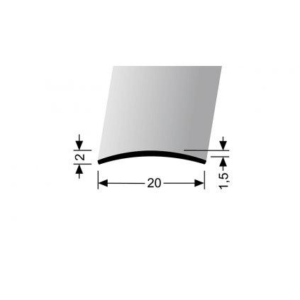 Přechodový profil 20 mm, oblý | Küberit 458 U