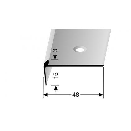 Schodový profil pro krytiny do 3 mm | Küberit 860