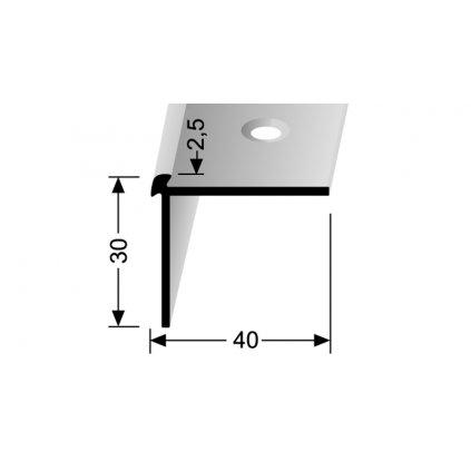 Schodový profil pro krytiny do 2,5 mm | Küberit 870