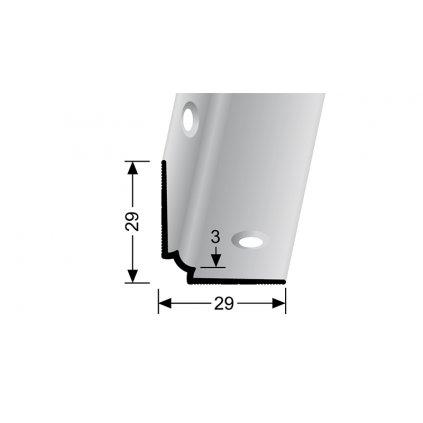 Vnitřní schodový profil pro krytiny do 3 mm | Küberit 871 IW