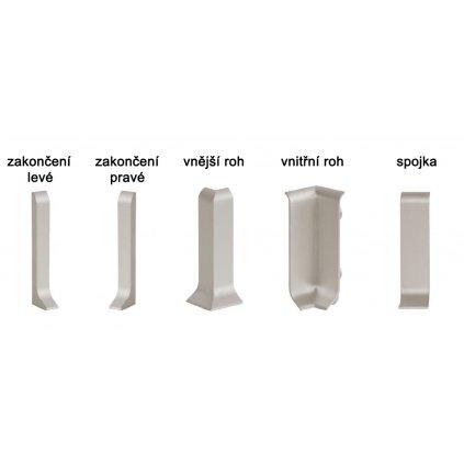 PVC komponenty pro Küberit 912 U 58 mm