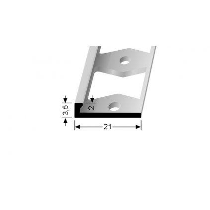 Ukončovací profil L 2 mm | Küberit 299 G